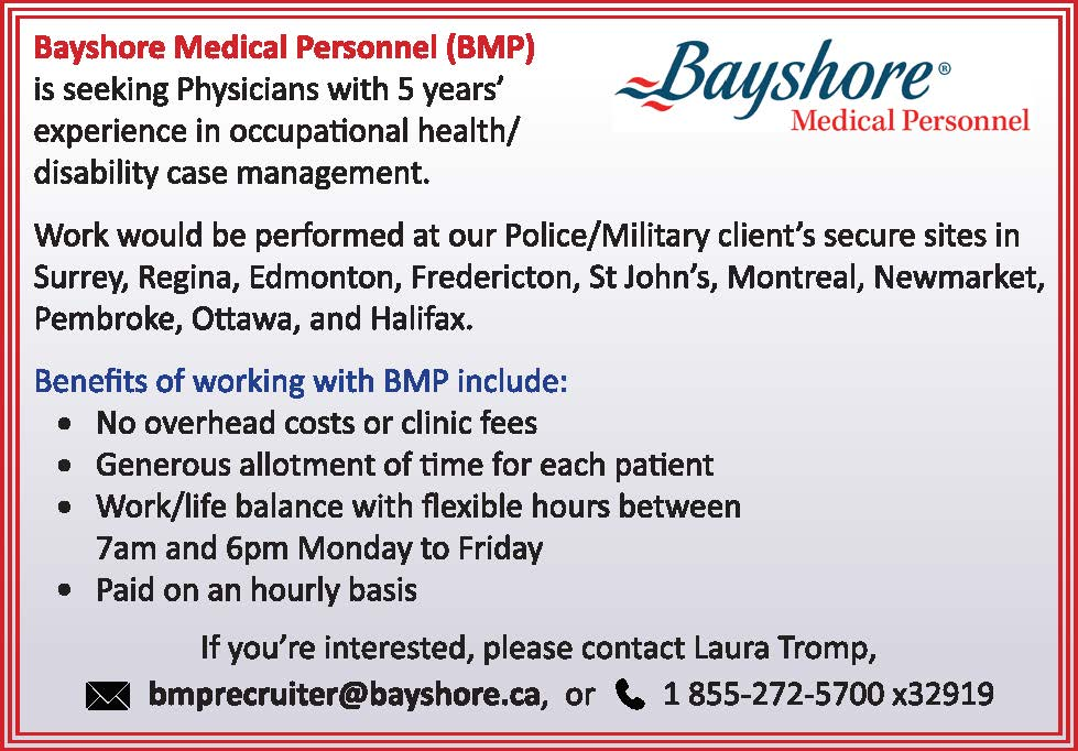 Bayshore Medical Personnel Display Ad